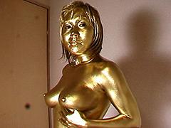 ウェット&メッシー:金粉巨乳娘