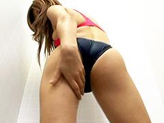 水着:競泳水着からハミ出る豊満な女体とデカ尻盗撮!9