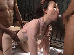 黒人巨大マラ 日本人美女膣破壊FUCK!-【熟女】