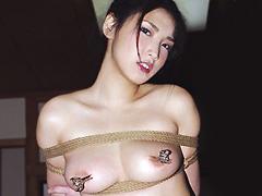 【エロ動画】人妻緊縛黒髪責め 深田梨菜のエロ画像