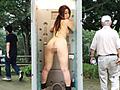 ドアが開いたら強制露出!街角アクメ仮設トイレ