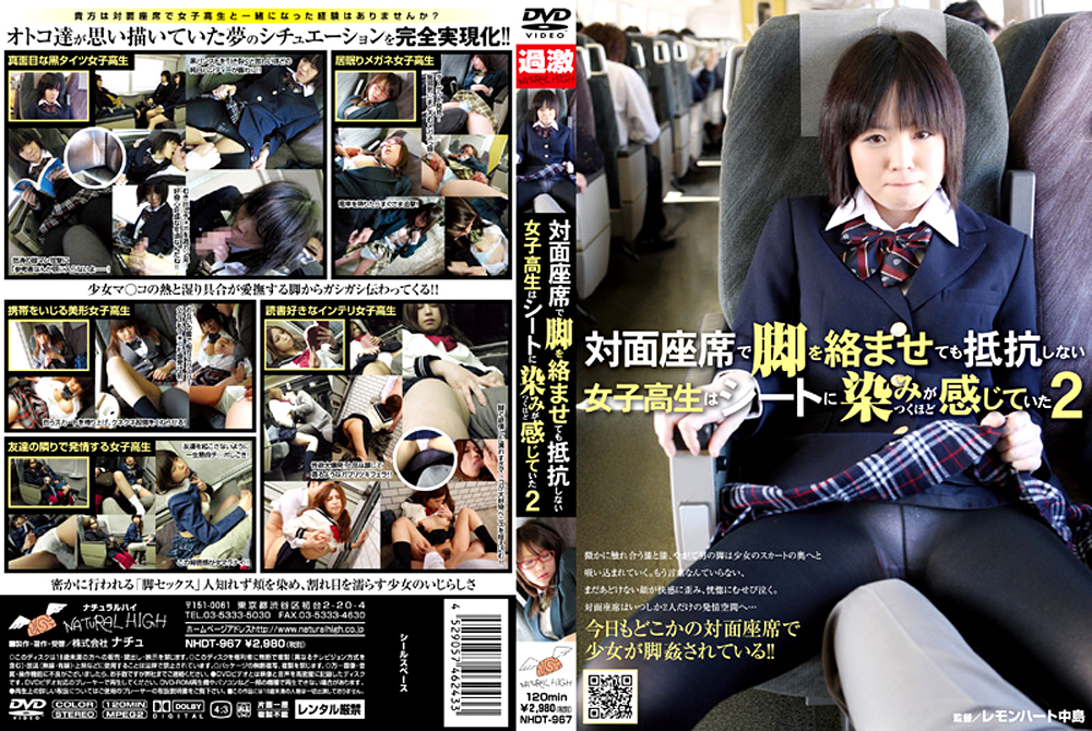 対面座席で脚を絡ませても抵抗しない女子校生2