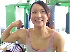 妹系アスリート本田奈々美デビュー ハニカミ筋肉少女