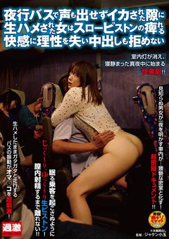 夜行バスで熟睡した女性の隣に座り股をまさぐり気付かれても構わず性行為におよび中出しするエロ動画
