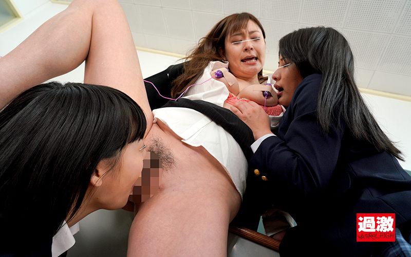 レズ生徒のW舐めで乳首奴隷に堕とされる女教師