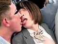 痴漢師の強引接吻で発情しバックで舌を絡める女子○生