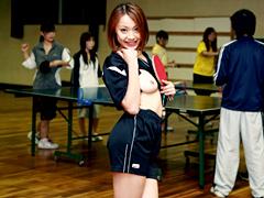 【エロ動画】市民卓球クラブに県大会優勝のAV女優が潜入!のエロ画像
