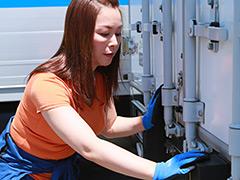 【エロ動画】女性トラック運転手を性感マッサージでイカせてみた3