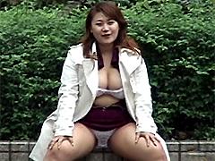 [露出動画]応募M志願 巨乳・ひろこ-画像1