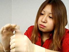 紅陵女子短期大学射精実習 手術用手袋