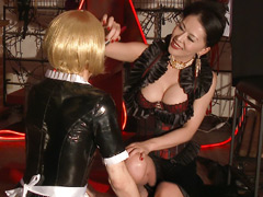 【奴隷貴婦人無料動画】貴婦人と組長-忠誠奴隷の証は熱蝋地獄-女王様