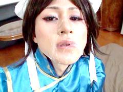 アニコスぶっかけ4 女装子格闘家 リサ