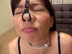 【エロ動画】無理やり鼻フックのエロ画像