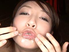 【エロ動画】極限のゴックン!! 100%精液ピンサロ嬢 桐原あずさのエロ画像