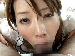 【エロ動画】メガフェラチオ07 デカチンを喉奥まで咥え込む女のエロ画像
