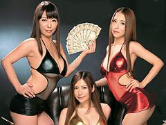 【エロ動画】最強AV女優軍団のチ●ポ責めに耐えたら10万円のエロ画像