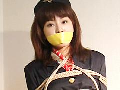 【エロ動画】猿轡のこだわり14 テープギャグ連続装着2 CA監禁のエロ画像
