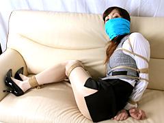 【エロ動画】社内奴隷 OL緊縛 戸田麻耶のエロ画像