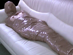 【エロ動画】マミフィケーション マミーになった女のエロ画像