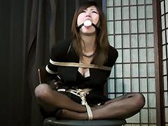 【エロ動画】ボンデージ・アドベンチャー 未亡人緊縛監禁のエロ画像