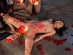 【エロ動画】SMレズビアン 血と薔薇のエロ画像