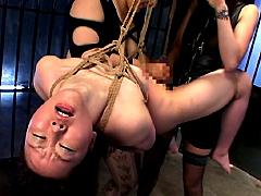【エロ動画】SMレズビアン 浣腸と緊縛のエロ画像