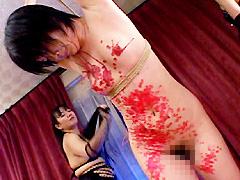 【エロ動画】SMレズビアン 媚薬と逆さ開脚M字吊のエロ画像