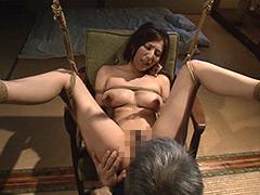 【エロ動画】緊縛調教 縛られた嫁のエロ画像