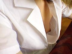 ノーブラ胸モロ映像2