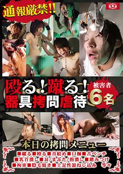 「殴る!蹴る!器具拷問虐待 被害者6名」のパッケージ画像