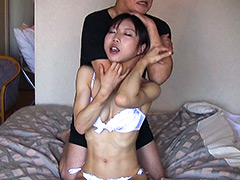 【エロ動画】美人柔道選手 絞め技&窒息修行のエロ画像