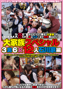 "SOFT ON DEMAND 大家族スペシャル 3男6女12人石川家編 テレビでよく観る""大家族""の裏のウラまで全部見せます!"