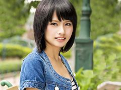 【エロ動画】ロケ中に大阪で見つけた超清純美少女 AV Debutのエロ画像