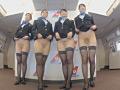 「制服・下着・全裸」でおもてなし またがりオマ○コ航空 5 メガち○ぽ黒人編 1