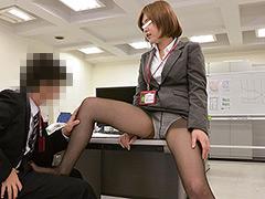 【エロ動画】精子好き女子社員に勃起薬入りのお茶を飲まされた!!のエロ画像