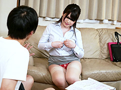 エゲツナイほどセクシーな営業女子が部屋に訪ねて来た!