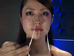 【エロ動画】催眠術をかけられて動けない女に鼻こより電マ鞭のエロ画像