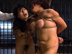 【エロ動画】三段腹、垂れ乳のだらしない熟女の全裸調教03 - 極上SM動画エロス