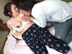 【エロ動画】田舎のおっかさん中出しDX 上巻のエロ画像