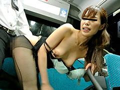 パンスト:通勤満員バスのOL黒パンストむっちり尻が辛抱たまらん!
