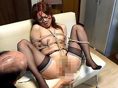【エロ動画】滴る愛液 マゾ牝鼻責め 生田沙織のSM凌辱エロ画像