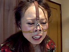 【エロ動画】美麗淑女 悪逆鼻道 若菜あゆみのSM凌辱エロ画像