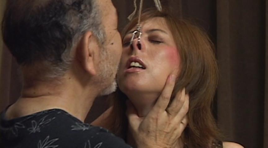 鼻責め浣腸調教 生贄妻 穴開き