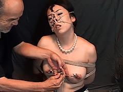 【エロ動画】美熟女四穴弄虐 多方向鼻フック悦虐 篠原桐子のエロ画像