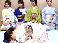 【エロ動画】女だらけの湯けむり痴女温泉旅館のエロ画像