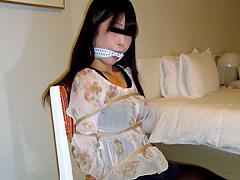 【エロ動画】初めての緊縛猿轡のSM凌辱エロ画像