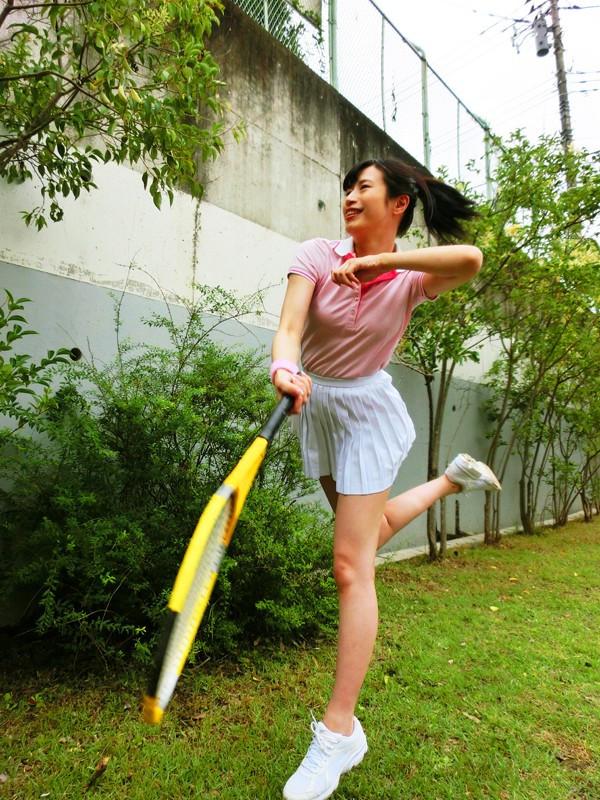 妊娠テニスガール 華村ちほ