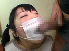 フェチ:マスクでフェラ