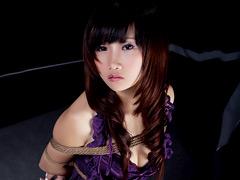 【エロ動画】Miko パジャマ、下着の緊縛姿のエロ画像