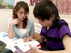 【エロ動画】友人の妻はドスケベ家庭教師 結城みさのエロ画像